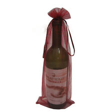 10pcs Sheer Organza Wine Bottle Cover Wrap Gift Bags Wedding Party Favour