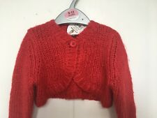 BNWT Adams Baby Chunky Knit Cardigan. Red. Girls.  Age 3 - 18 Months