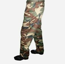 PANTS ARMY WOODLAND CAMO 4 POCKETS FLAT FRONT ZIPPER 30 to 44 Reg,Long