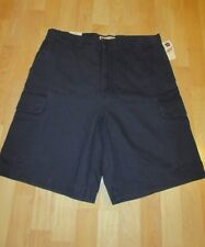 NEW MENS SIZE 36 GAP FLAT FRONT CARGO SHORTS  NAVY BLUE $34