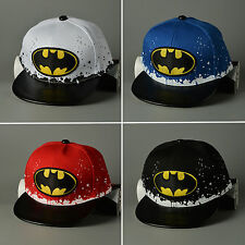 Kids Boys Girls Batman Baseball Cap Snapback Adjustable Hip-Hop Sports Bboy Hats
