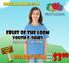Fruit of the Loom Youth Best T-Shirt - Light Blue
