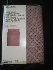 IKEA Fjalltag Duvet Quilt Cover set with Buttons Twin Full Queen Burgandy Black