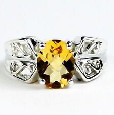 Citrine, 925 Sterling Silver  Ring-Handmade. SR281