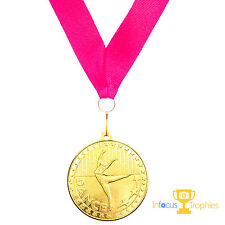 Dance Medals With Ribbon High Quality Solid Metal Dancing Competition Award Gift
