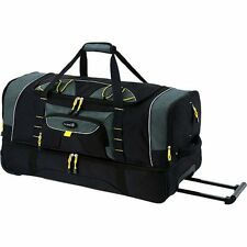"Rolling Wheel Tote Duffle Bag Travel Luggage Suitcase Backpack 36"" 2 Section New"
