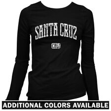 Santa Cruz California Women's Long Sleeve T-shirt - LS S-2X - Gift Cycling Skate