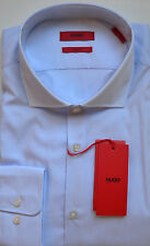 NWT HUGO Red Label By Hugo Boss Sharp Fit Long Sleeve Striped Dress Shirt