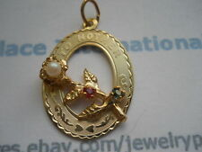 14K Gold Filled To Mother Crystal Pendant Item #P6021