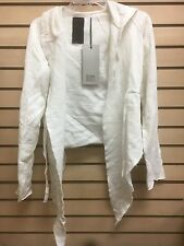 rick owens slab wmo1909 prd white sz xs,s,m sweatshirt womens new 100% AUTHENTIC