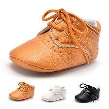 Baby Girls Boy PU Leather Crib Shoes Kids Soft Sole Loafers Toddler Shoes I5