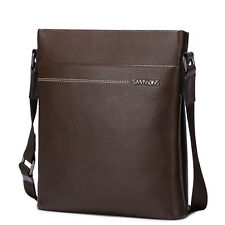 SAMMONS Men Real Genuine Cow Leather Purse Messenger Crossbody Shoulder Bag Flap