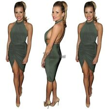 Sexy Women Backless Bodycon Bandage Sleeveless Cocktail Party Mini Dress WT88