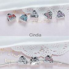 5pcs Crystal Hangbag Design Bow Charms Bracelet Pendant Jewelry Making