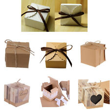 50Pcs Kraft Paper Sweets Chocolate Candy Gift Boxes Wedding Birthday Party Favor