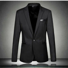 New Fashion Mens Casual Slim Fit One Button Dress Suit Blazer Coat Jackets Tops