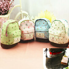 Mini Cute School Bag Coin Purse Canvas Makeup Bag Key ID Card Case Holder Wallet