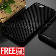 Black Ultra thin Soft Rubber Shockproof Tempered Glass Case For iPhone 6 7 Plus