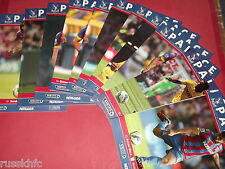 2014/15 CRYSTAL PALACE HOME PROGRAMMES CHOOSE FROM