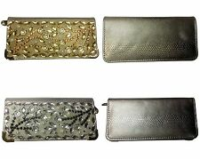 New Womens Ladys Fashion Wallet w Rinstone Flower Bling Coin Purse Wallet
