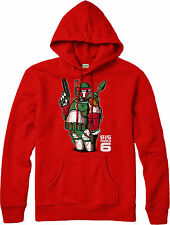Boba Fett Hoodie,Star Warrior Big Boba 6 Spoof,Adult and kids Sizes