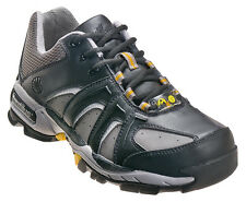 Nautilus Mens Steel Toe ESD Athletic W Black/Grey Leather Shoes