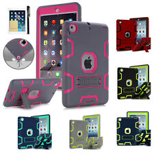 Shockproof Military Heavy Duty Rubber With Hard Stand Case Cover For  iPad