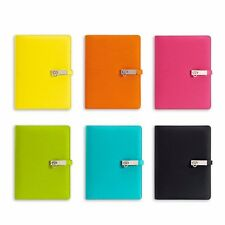 A5 Business Loose Leaf Hasp Leather Planner Notebook Schedule Diary Journal #JP