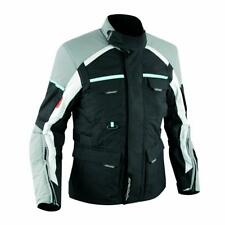 Textile Vented Waterproof Motorcycle Motorbike Quality Touring Jacket Grey