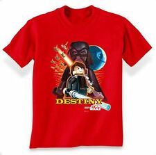 Star Wars Lego Darth Vader Destiny (Glow In The Dark) Youth Red T-Shirt - (XLarg