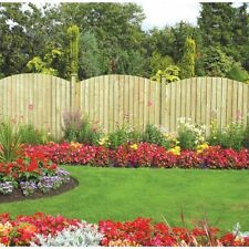 GRANGE 1.7m High Wooden  Dome Feather Edge Garden Fence Panel
