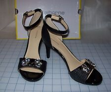 WOMENS LIZ CLAIBORNE HEIDY JEWELED HEELED SANDALS NEW IN BOX MSRP$80.00