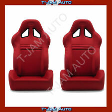 SAAS Kombat Red Dual Recline X2 (Pair) Sports Race Seat ADR Approved