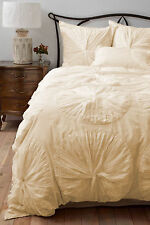 3 Piece Waterfall Flower Ruffle Duvet Cover Set 800TC Cotton All Size & Color