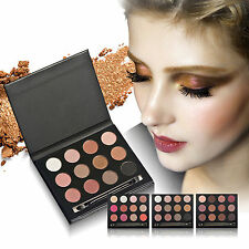 Pro 12 Colors Eye Shadow Cosmetic Makeup Shimmer Matte Eyeshadow Palette Set