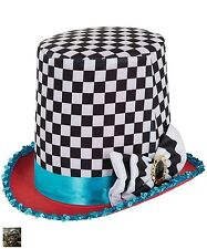 ACCESSORIE MAD HATTER TOP HAT TOPPER STOVEPIPE FANCY DRESS TEA PARTY COSTUME