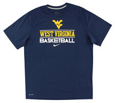 Nike Mens Dri Fit West Virginia Basketball Training T Shirt Dark Blue