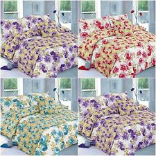 New Floral Martha Duvet Cover Set Bed in a Bag Single Double King Superking Size