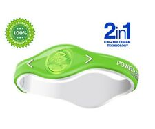 2in1 Ion + Hologram Bracelets Power Balance Energy Sport Wristband USA to World