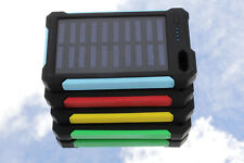 30000mAh Solar Power Bank Portable External Backup Battery Charger + Flashlight