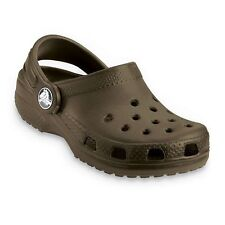 New Boys/Youth Crocs Classic Kids' Clogs Sandals Shoes Size 1, 2, 3 in Chocolate