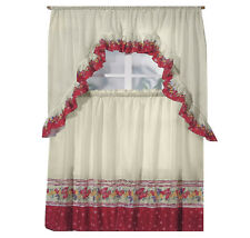 NEW Spring Fruit Kitchen Window Curtain Complete Tier & Swag Set