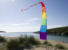 3.75m Rainbow Festival Banner Flag Kit With Pole and Ground Stake