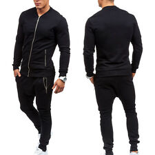 Mens Jogging Tracksuit Sportsuit Gym Fitness Sweatshirt Athletic Tops+Bottoms .