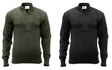 Military Type 5 BUTTON Pullover Sweater V-Neck Army Navy Marine Corps Commando