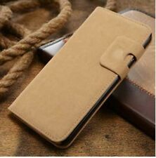 L-Brown Magnetic Flip Wallet Swede Leather Case For iPhone 6 Plus {oi285