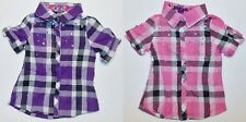 One Step Up Toddler Girls Button Up Shirts Purple or Pink Size 2T NWT