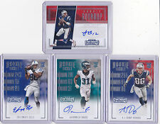 2016 CONTENDERS FOOTBALL AUTO ROOKIE TICKET RC LOT OF 4 AUTOGRAPHED RC