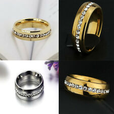 Stainless Steel Sz4-15 CZ Ring Titanium Wedding Couple