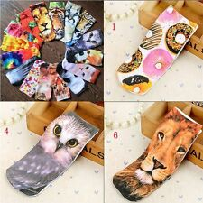 Pair Men Women Casual 3D Printed Animal Cotton Low Cut Ankle Socks